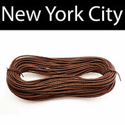 5mm Brown Bolo Braided Leather Cord Necklace 1 Yard