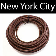 8mm Brown Bolo Braided Leather Cord Necklace 1 Yard