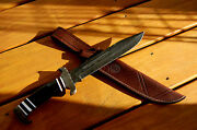 Alice G Huge Damascus Steel Hand Forged Bowie Knife, 1-of-a-kind
