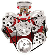 Billet Specialties V-trac Chevy Front Engine Kit,sbc,power Steering Pump,a/c++