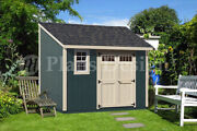 8and039 X 12and039 Backyard Deluxe Storage Shed Plans Blueprint Lean-to Design D0812l