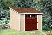 10and039 X 10and039 Deluxe Shed Diy Plans Lean To D1010l Material List And Instructions