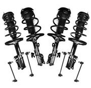 Front And Rear Strut Shock And Coil Spring Assembly + Sway Bar Stabilizer Links New