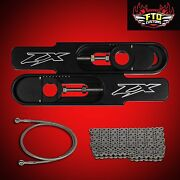 2012 Zx6r Swingarm Extensions 36 Brake Line And 525 Chain Swingarm Extension