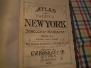 Orig 1930 New York City Map Nyc West Greenwich Village Excellent