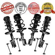 Front And Rear Complete Strut And Coil Spring Assembly + Sway Bar Stabilizer Links