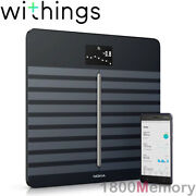 Genuine Withings Nokia Body Cardio Composition Bmi Hr Wi-fi Smart Scale Black