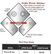 Edwards - Cst Set Of Angle Shear Blades For 40 Ton Ironworkers