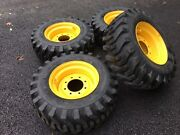 4 New Camso 12x16.5 Tires And Rims For New Holland, John Deere, Gehl, Mustang