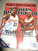 Shaq Shaquille Oand039neal Signed Autograph Sports Illustrated Magazine Lakers Heat E