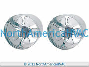 2x 10 Round In-line Air Duct Booster Fan 115 Volt T9-mcm10 T9-db10 Db10 650 Cfm
