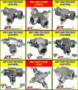 Hydraulic Steel 3-way Bsp T Piece Fitting Choice Of Config. And Cross Hyd Adaptor