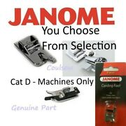 Janome Sewing Machine Feet Foot Cat D 9mm Mc8900qcp,6700p,9900,9450, Atelier,m7