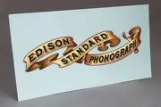 Pre Cut Standard Banner Water Slide Decal Edison Cylinder Phonograph