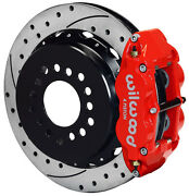 Wilwood Disc Brake Kit,rear Parking,gm/chevy,2.75,13 Drilled Rotors,red Calip.