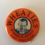 Mid 1930s Wheaties Pacific Coast League Pinback - Oand039douland039s San Francisco Seals