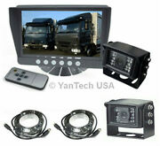 Two Camera 7 Rear View Backup System Truck Trailer Rv - Two 120anddeg Ccd Cameras