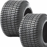2 18x6.50-8 18/6.50-8 Riding Lawn Mower Garden Tractor Turf Tires P332 4ply