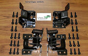 Door Hinges Set 68 69 4pc Upper Lower W/ Mounting Bolts Kit 30 Pc W/correct Head
