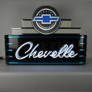 38 Art Deco Neon Sign In Steel Can Chevy Chevelle Chevrolet Ss Marquee Ul Lamp