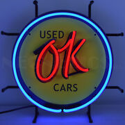 Neonetics Real Neon Sign Ok Used Cars Licensed By Chevrolet Lamp Ul Wall Light