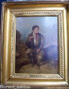 Erskine Nicol 1825-1904 Original Oil Painting On Panel Portrait Of A Man At Rest
