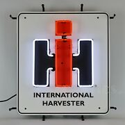 International Harvester Neon Sign Old Abe Ih Square Case Agriculture Farmall Nib
