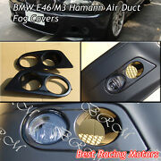 Hamman Style Air Duct Fog Light Covers Abs Fits 01-06 Bmw E46 M3 Only