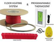 240v Electric Floor Heat Tile Heating System 300 Sq Ft With Gfci Digital Thermo