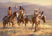 Howard Terpning Grandfather Prays To Sun Le Coa Sold Out Canvas Mint