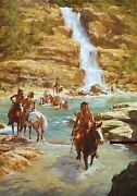 Howard Terpning Vanishing Pony Tracks Sold Out Canvas With Coa