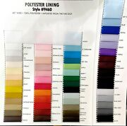 Poly Lining Fabric Choice Of Color 1 Yd. Wedding, Formal, Suits, Dresses , Pants