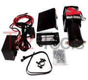 Power Winch 12v 3000 Lb Capacity Power Cable Atv Winch 12 Volt Recovery Towing