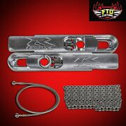 2002 Gsxr 600 12 Inch Stretch Swingarm Extensions Kit Chain And 36 Brake Line