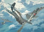 Number 20 For Joe Roy Grinnell Print Signed By Ww Ii Ace Captain Joe Foss