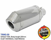 Motorcycle Universal S/steel T304 Performance Short Exhaust Muffler 50mm / 2and039and039