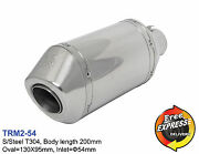 Motorcycle Universal S/steel T304 Performance Short Exhaust Muffler 54mm 2.13and039and039