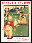 1931 Stanford At Usc Football Program Ncaa Champions National Champs