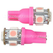 2pcs 5-smd T10 Wedge 5-smd 5050 Led Light Bulbs 192 168 194 2825 158 Pink Pair