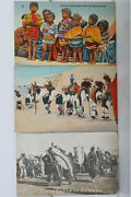 Vintage Native American Indian Post Cards - Sioux Dancing Seminole