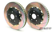 Brembo Rear 2 Piece Oversize Rotor Disc Upgrade 405x22 Slot Continental 03-13