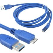 Usb 3.0 Pc Charger Data Cable/cord Lead For Wd My Book Essential Wdbacw0020hbk