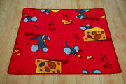 Childrens Christmas Present Idea Bedroom Rug Play Mat Red Mouse Cute Animal Xmas