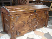 Wooden Blanket Box Coffee Table Trunk Vintage Chest Wooden Ottoman Toy Box Jul1