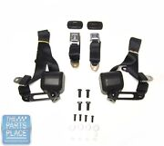 68-72 Chevelle Monte Carlo 3 Point Retractable Front Seat Belts Gm Sbgm19bs1000
