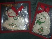 Lenox Holiday Teddy Bear And Rocking Horse Cookie Press Mold Christmas Ornament