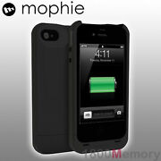 Genuine Mophie Juice Pack Plus Battery Case For Apple Iphone 4 4s Black 2000mah
