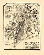 Civil War - Perryville Kentucky Battlefield - Work 1882 - 23.00 X 28.76