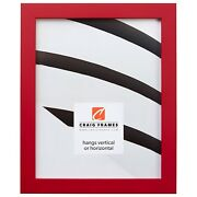 Craig Frames Confetti Modern Red Solid Wood Picture Frame