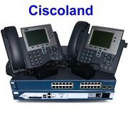 Cisco Voice Collaboration Lab Kit 2811 With Cme 8.6 + 3560-ps + 2x7942 Ccna Ccnp